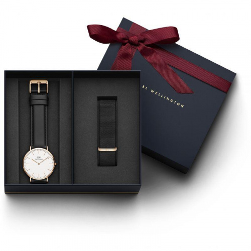 Daniel Wellington Classic Sheffield 男裝金色手錶錶帶套裝