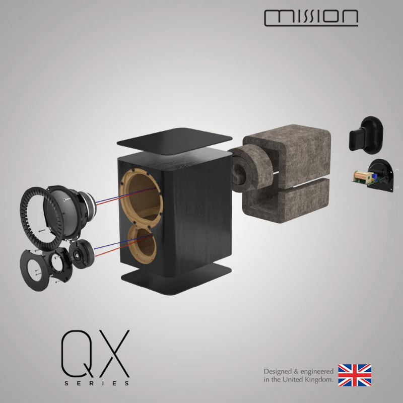 Mission QX-1 書架喇叭 [三色]