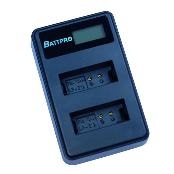 BattPro Canon LP-E12 雙位電池USB充電器 香港行貨