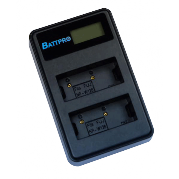 BattPro Fujifilm NP-W126雙位電池USB充電器 香港行貨