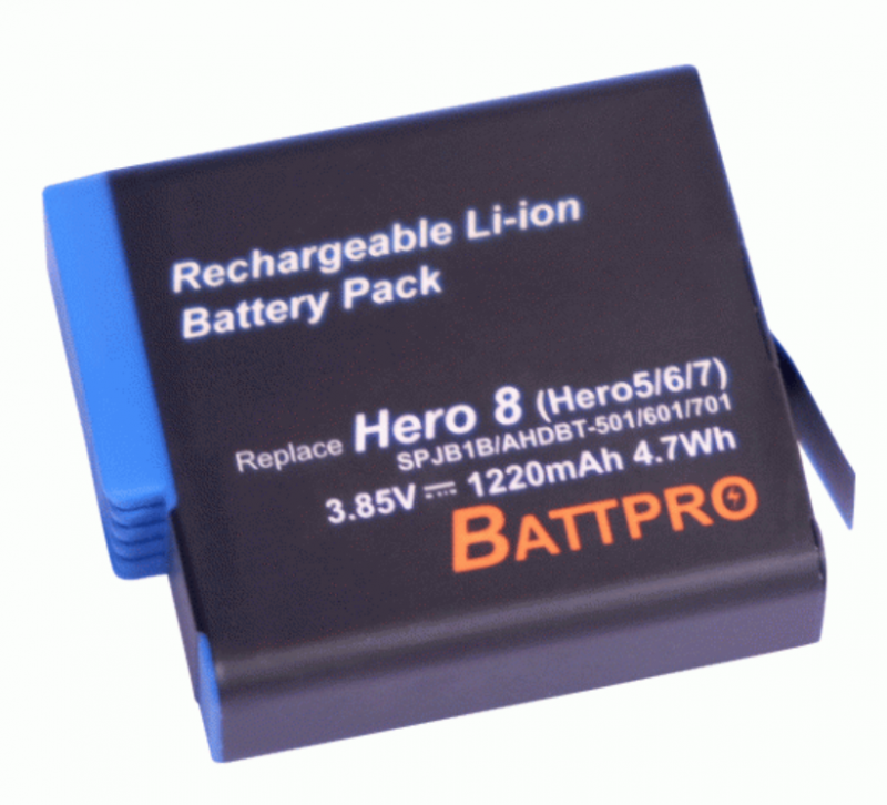 BattPro GoPro Hero 5/6/7 / 3.85V 1220mAh 香港行貨