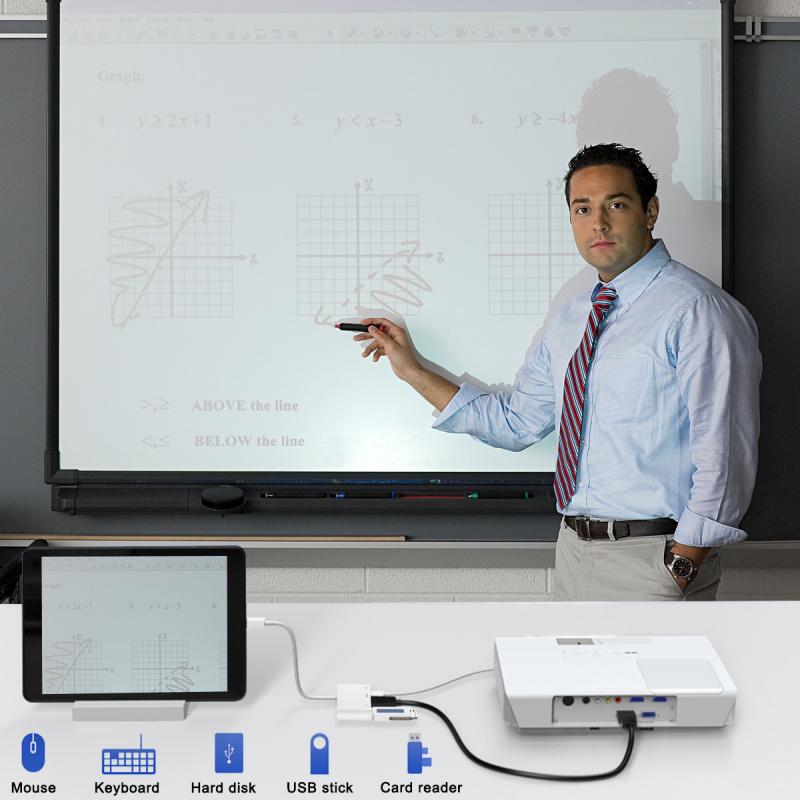 Lightning Digital AV +USB轉換器 iphone HDMI 轉接器