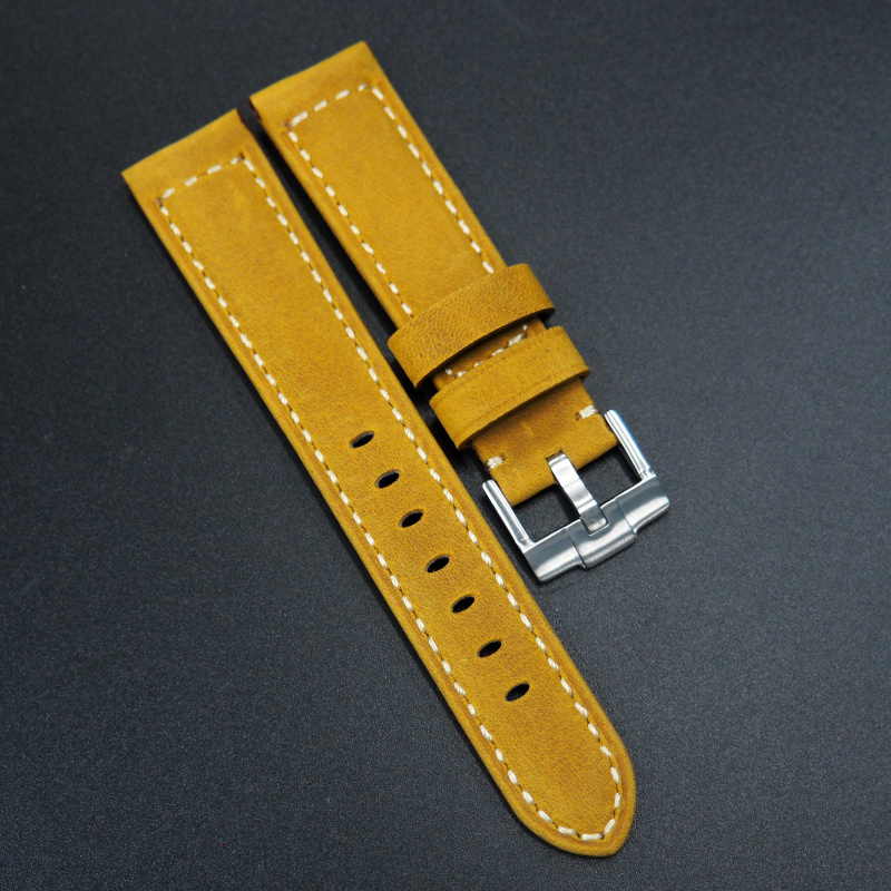 20mm 托斯卡纳黃色意大利牛皮錶帶