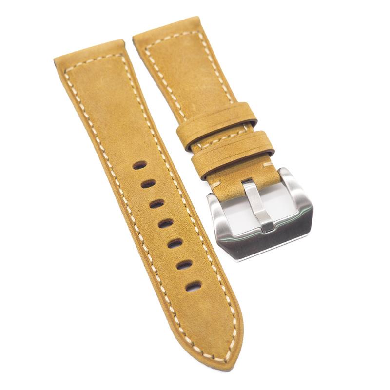 20mm, 26mm 托斯卡纳黃色牛皮錶帶