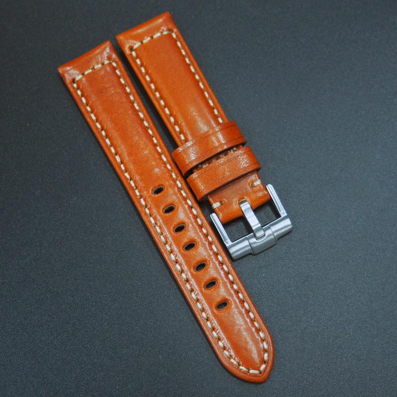 20mm 橙色意大利牛皮錶帶