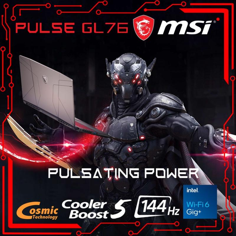 """[預訂] MSI GL76 Pulse 11UEK 17.3""""脈動力量電競筆電11th ( i7-11800H / RTX3060 / 144Hz )"""