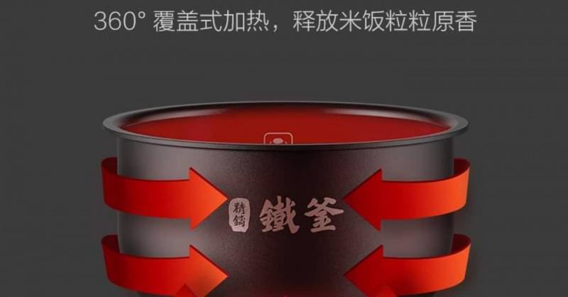小米有品云米互聯網IH低糖電飯煲(3L)鈦空灰