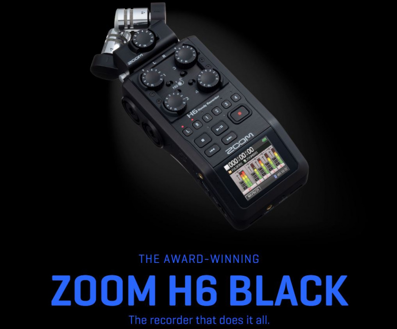 [香港行貨] ZOOM H6 BLACK Handy Recorder