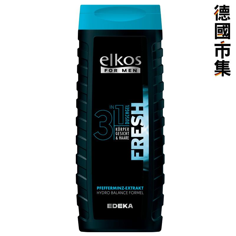 德國elkos 男士活力型 3合1 洗髮洗面沖涼沐浴啫喱液300ml【市集世界 - 德國市集】