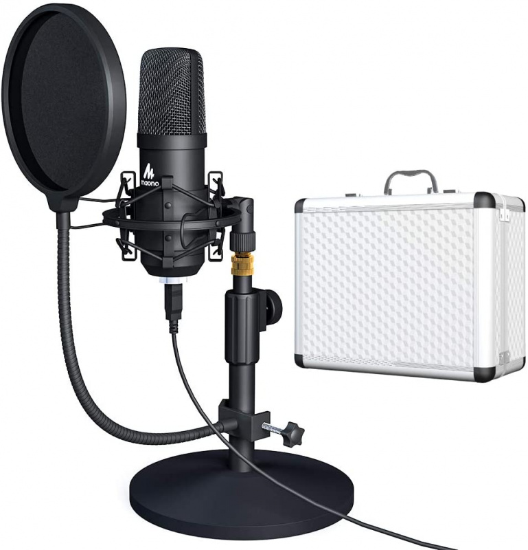 MAONO USB Microphone with Storage AU-A04TC 連銀色箱