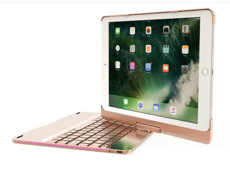 """9.7"""", iPad iPro 9.7"""", Air 360 ° 轉動藍牙Keyboard"""