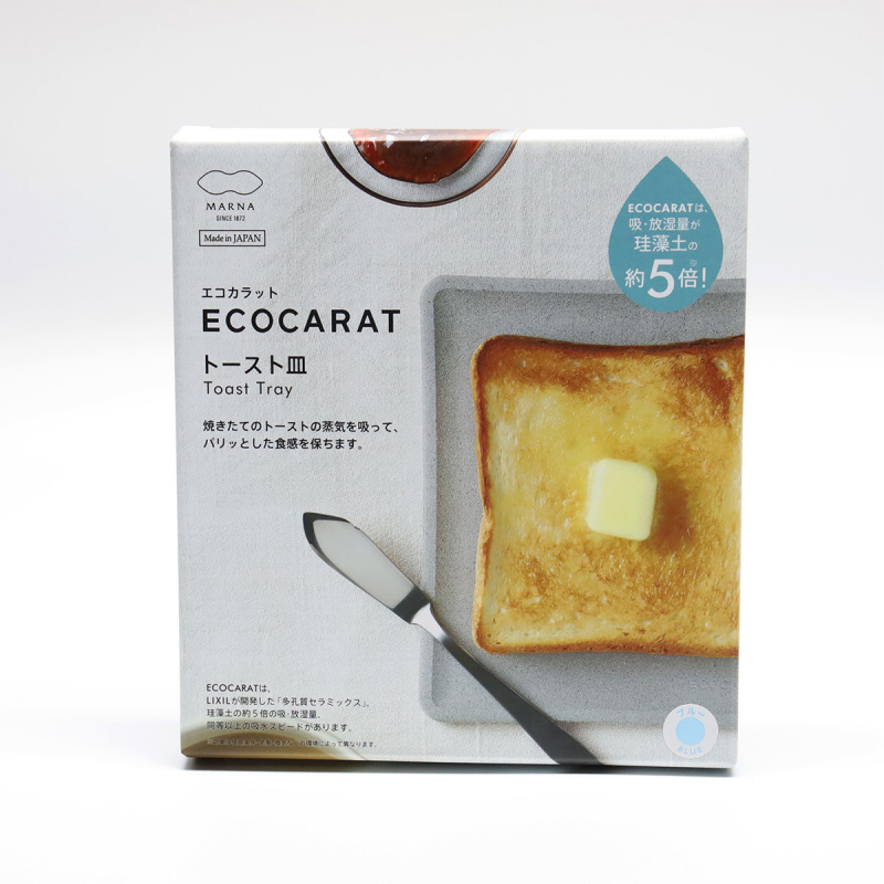 (日本創新產品) ECOCARAT - 多孔陶瓷吸濕吐司碟
