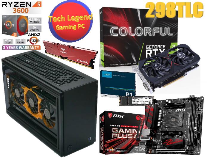 6月優惠系列iTX(A4紙尺寸大細)AMD Ryzen5-3600+RTX2060+16GB Ram (6核心12線程 火線獵殺/戰爭機器5/全境封鎖2/LOL/食雞/GTA5 電競組合) 🔥🔥🔥免費送貨 + 再加送正版WIN10🔥🔥🔥