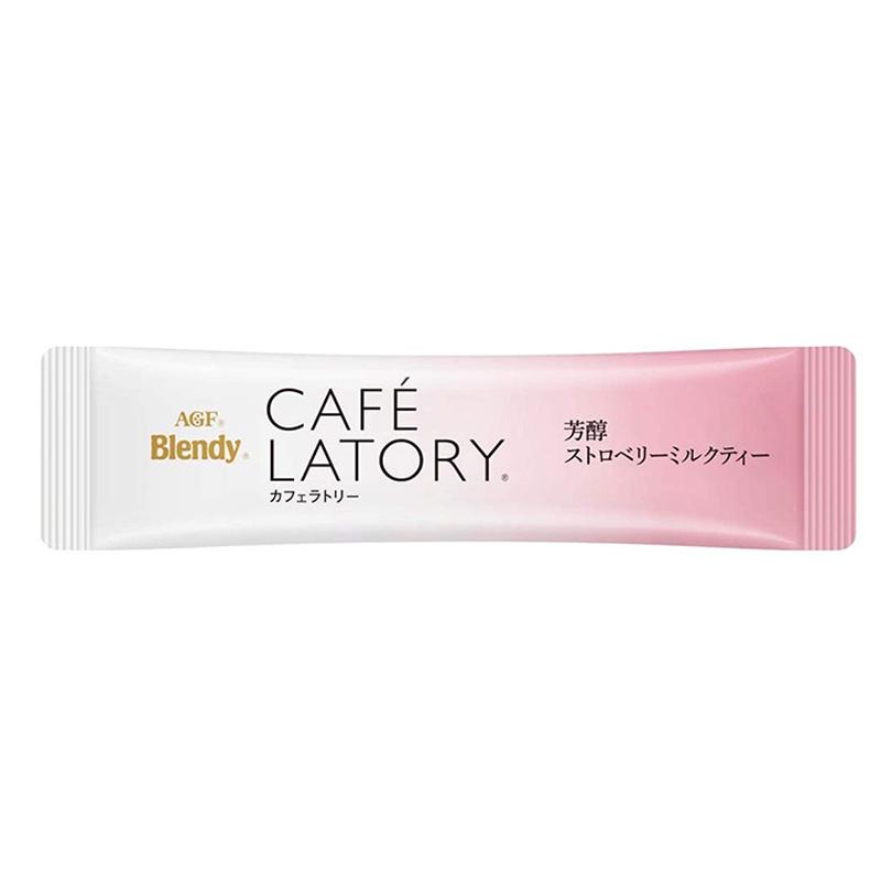日版AGF Blendy Café Latory【芳醇草莓士多啤梨奶茶】(1盒6條) 【市集世界 - 日本市集】