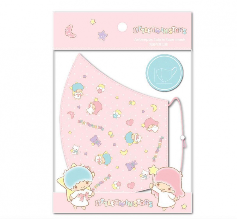 行貨正版SANRIO - 三層親子抗菌環保口罩 (小童- LITTLE TWIN STARS)