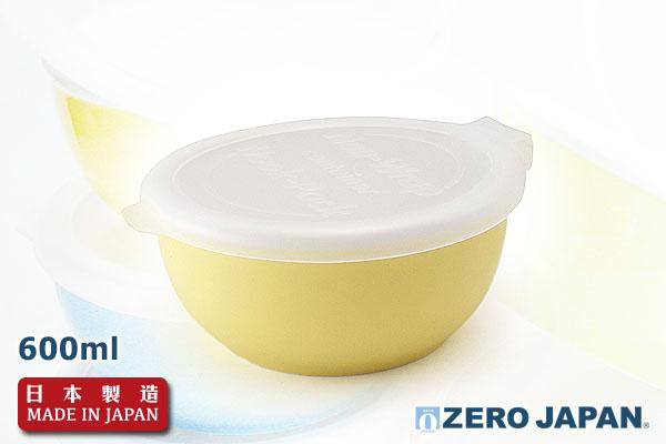 ZeroJapan優質儲存盒(大/600ml/奶黃色)|日本製造