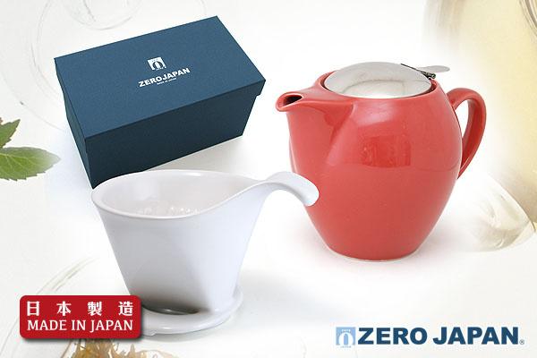 ZeroJapan經典大茶壼+咖啡滴頭禮盒(西瓜紅色)|日本製造