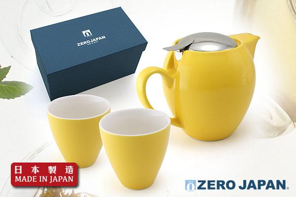 ZeroJapan經典大茶壼+2高杯禮盒(黃椒色)|日本製造