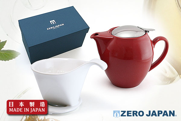 ZeroJapan經典大茶壼+咖啡滴頭禮盒(棗紅色)|日本製造