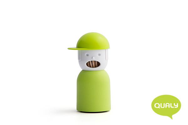 玩味男孩造型牙籤筒 (綠)