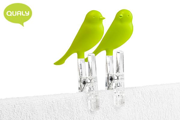 可愛小鳥衣夾 (綠/2個裝)