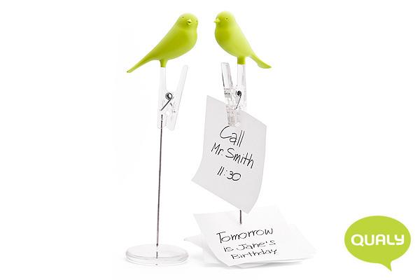 可愛小鳥便條夾 (綠)