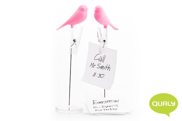 可愛小鳥便條夾 (粉紅)