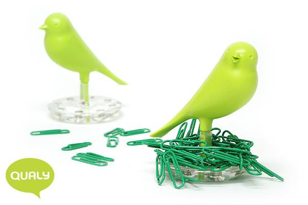 可愛小鳥萬字夾座 (綠)