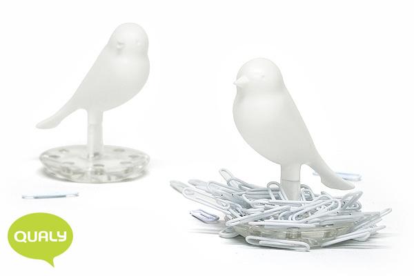 可愛小鳥萬字夾座 (白)