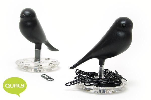 可愛小鳥萬字夾座 (黑)