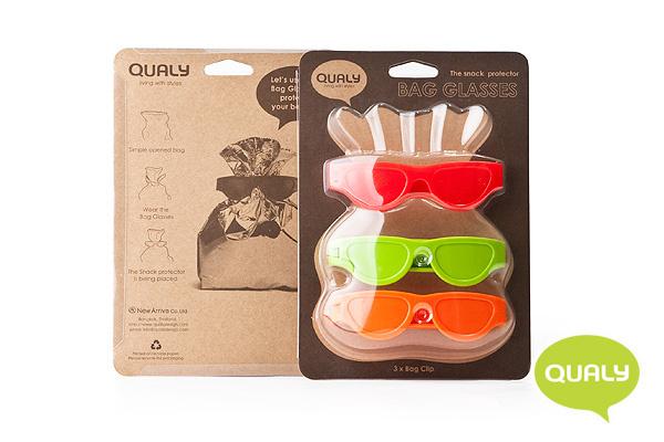 趣緻太陽眼鏡封口夾 (3個裝/紅、綠、橙)