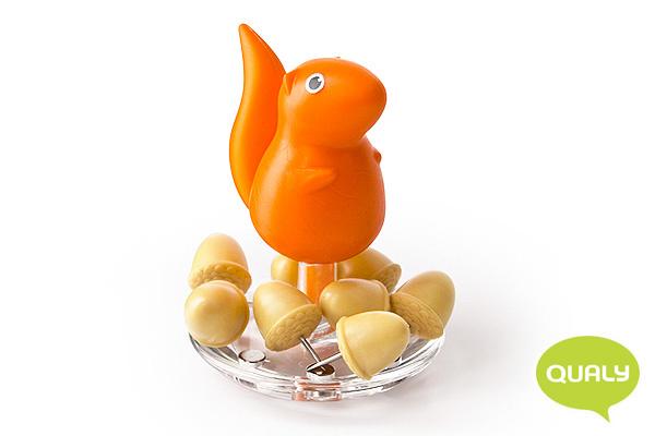 趣緻小松鼠大頭針座 (橙)