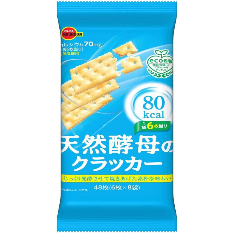 日版Bourbon 天然酵母梳打餅 (6枚 X 8袋) (2件裝)【市集世界 - 日本市集】
