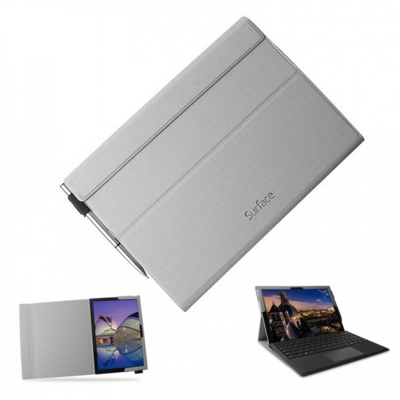 Microsoft Surface Pro 4 5 6 7 PU皮套Folding Cover (非Microsoft原廠產品)
