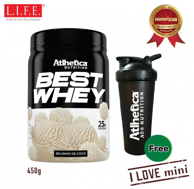 BEST WHEY 《迷你版》乳清蛋白粉 (香滑椰子奶) 450克 (送搖搖杯)