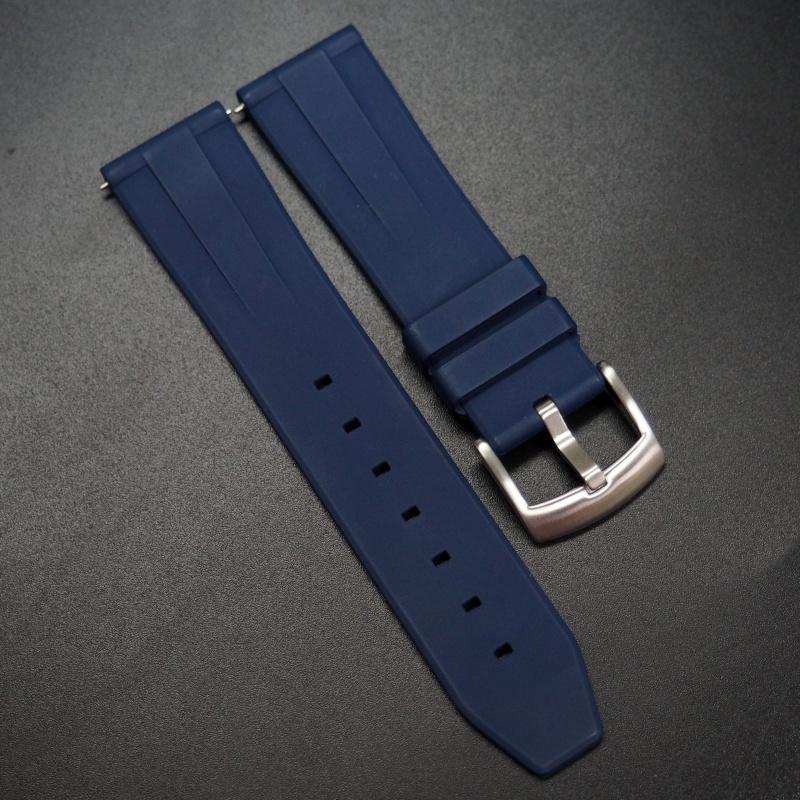 22mm 海軍藍色氟碳橡膠錶帶