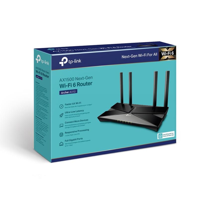 TP-Link Archer AX10 - AX1500 802.11ax Wi-Fi 6 Router【行貨保養】