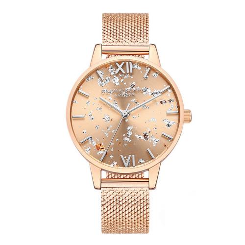 Olivia Burton Celestial Rose Gold Mesh 手錶 [OB16GD12]
