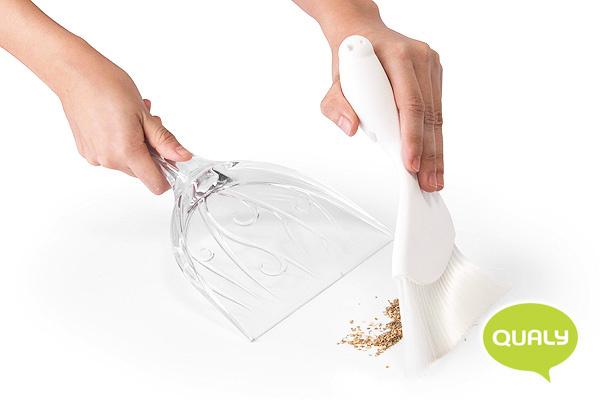 高雅小鳥掃把/垃圾鏟套裝 (白)