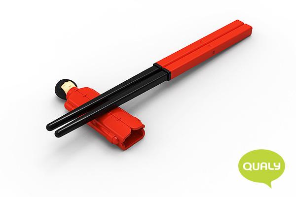 玩味李小姐筷子套裝 (紅)