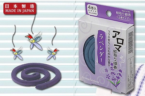 清香花果味小盒蚊香 (薰衣草/4卷入)|日本製造