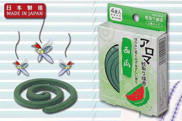 清香花果味小盒蚊香 (西瓜/4卷入)|日本製造