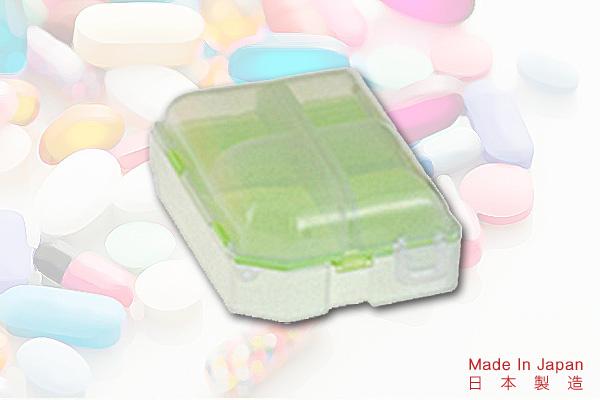 時尚色彩雙層藥盒 (綠) 日本製造