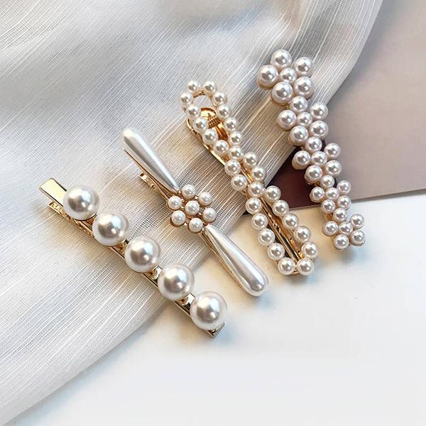 韓國JK珍珠髮夾套裝(4件套)