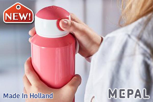 MEPAL 兒童彈出式防漏水樽 (粉紅色/400ml) 荷蘭製造