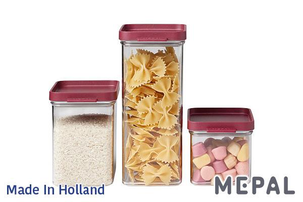 MEPAL|Omnia真空保鮮盒 (紅色/1100ml)|荷蘭製造