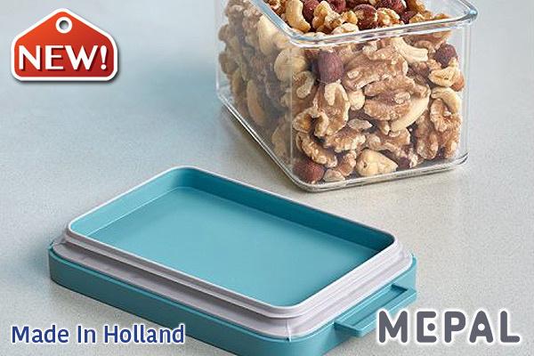 MEPAL|Omnia真空保鮮盒 (綠色/700ml)|荷蘭製造