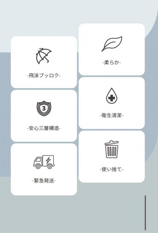 🇯🇵日本直送💥 ココパ株式会社 マスク 3層不織布口罩 50枚 過濾抗菌 BFE,PFE,VFE 99%