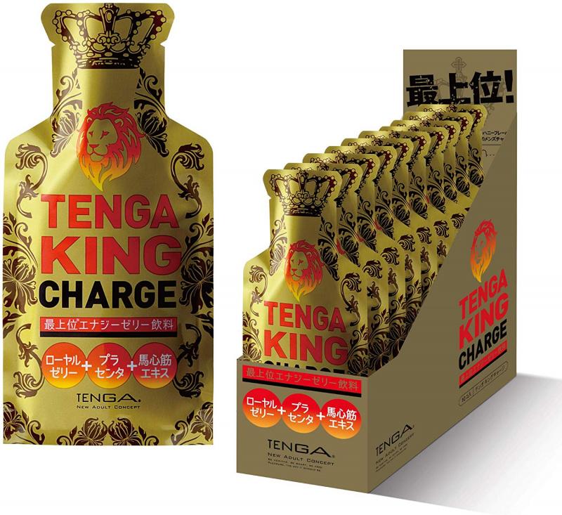 日本Tenga King Charge 蜂蜜薑味高級能量啫喱飲料(10件裝)