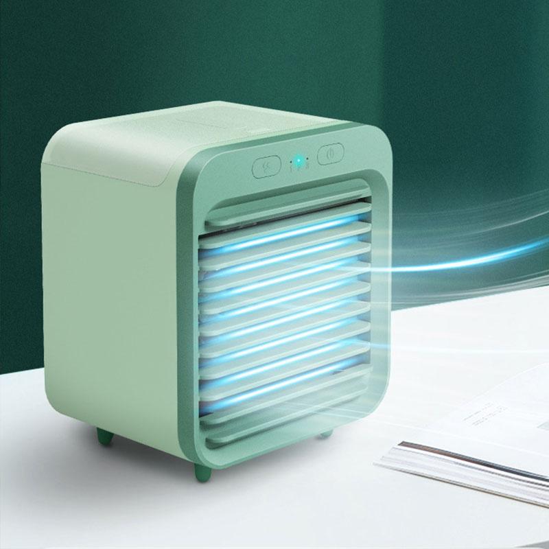 迷你桌面水冷風扇 SL-0820 - 雙電池充電小風扇 快速製冷 空氣冷卻器 加濕器 冷氣機